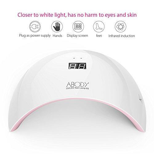 Lámpara de Uñas Abody 24W Lámpara UV y LED para...