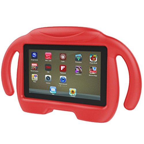 Zolimx Hülle für Amazon Fire 7 Tablet (7-Zoll, 7. Generation - 2017), Kinder Fall stoßfest leichte Gewicht Drop Schutz Kinder Eva Fall Abdeckung für Amazon Fire 7 Tablet (Rot) (Feuer Kindle Fall Generation 2. 7)