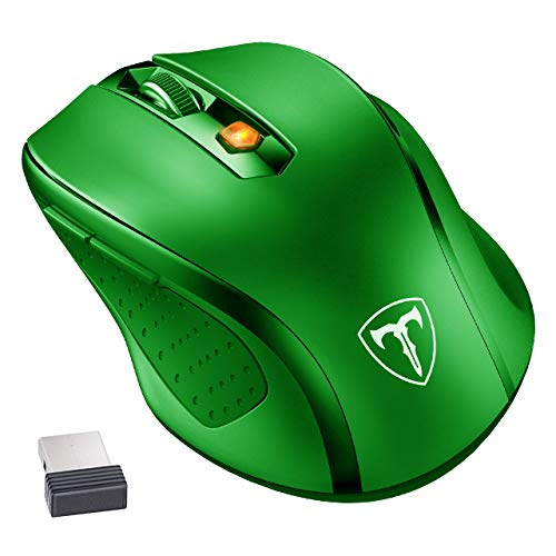 TOPELEK Laptop Maus, 2.4G 1600 DPI Mute Mini PC Kabellose Maus Wireless Optical Business Mouse USB Funkmaus Optische Mäuse Computermaus Für Laptop iMac MacBook Microsoft Pro, Office schwarz