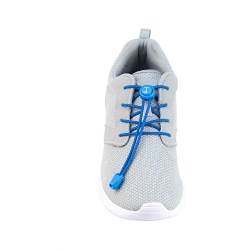 Funny Tree® Speed-Locks. Elastische Schnürsenkel mit Schnellverschluss. Reflektierende Gummi-Schuh-Bänder | Optimaler Komfort und Druckverteilung | Hohe Sicherheit | Schnellschnürsystem | Lock Laces Blau