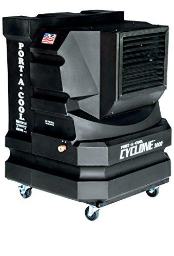 Portacool; Cyclone 3000; Climatizador evaporativo profesional portátil 5000 m3/h_60m2, 2 velocidades color...
