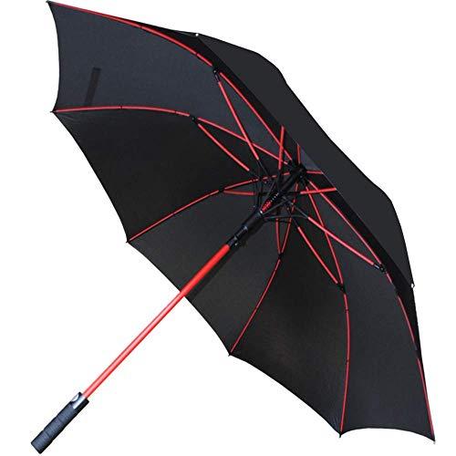 Collar and cuffs london - 95 km/h antiventoextra robusto -154 cm arco - ombrello classico - struttura rinforzata con fibra di vetro di colore rosso - 1 o 2 persone - apertura automatico - nero