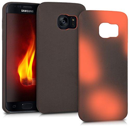 kwmobile Hülle für Samsung Galaxy S7 - TPU Silikon Backcover Case Handy Schutzhülle - Cover Farbwechsel Schwarz Rot