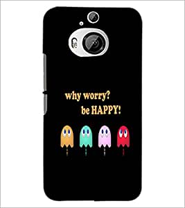 PrintDhaba Quote D-3740 Back Case Cover for HTC ONE M9 PLUS (Multi-Coloured)