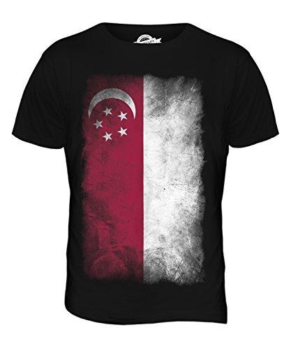CandyMix Singapur Verblichen Flagge Herren T Shirt Schwarz