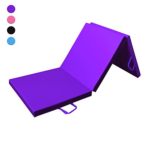 Prime Selection Products Sportmatte klappbar, 3-fach faltbare Fitnessmatte & Gymnastikmatte für...
