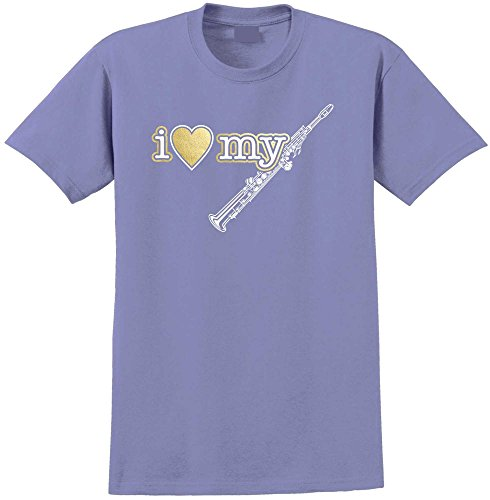 MusicaliTee Saxophone Sax Soprano I Love My - Violett T Shirt Größe 104cm 42in Large