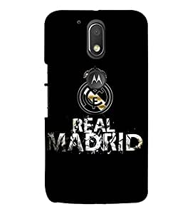 Takkloo Real Madrid ( black background, logo of a brand, nice logo, classy logo, Big M) Printed Designer Back Case Cover for Moto G Play (4th Gen) :: Motorola Moto G4 Play