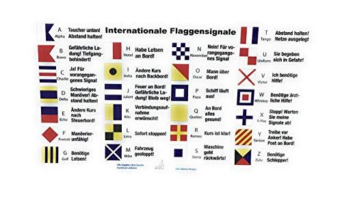 Wind und Segel Jacht-Aufkleber Flaggensignale Funkalphabet