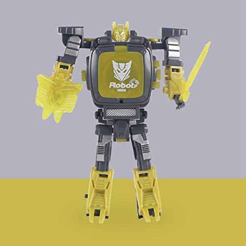 Volwco Roboter-Uhr 2 In 1 Transforming Elektronische Armbanduhr Spielzeug Manuelle Verformung Roboter Spielzeug Kinder-Digital-Uhr-Spielzeug Mit Staubdichter Abdeckung Für Kinder über 3(Grau)