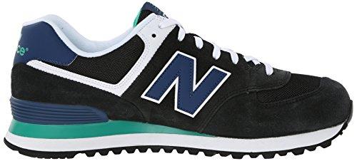 New Balance ML574 D Herren Sneakers Schwarz (MON BLACK/BLUE)
