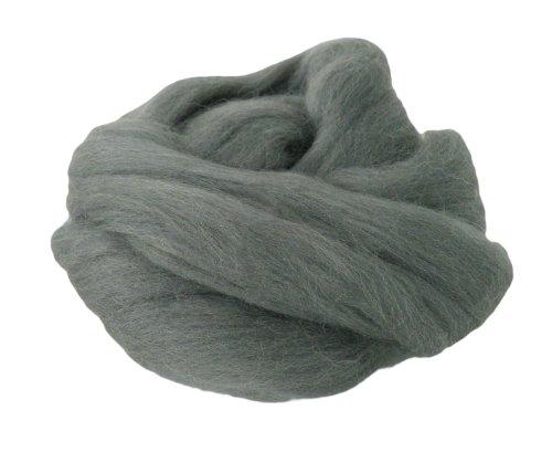 maDDma ® 25g Filzwolle Märchenwolle Nassfilzen Trockenfilzen, Farbe:grau