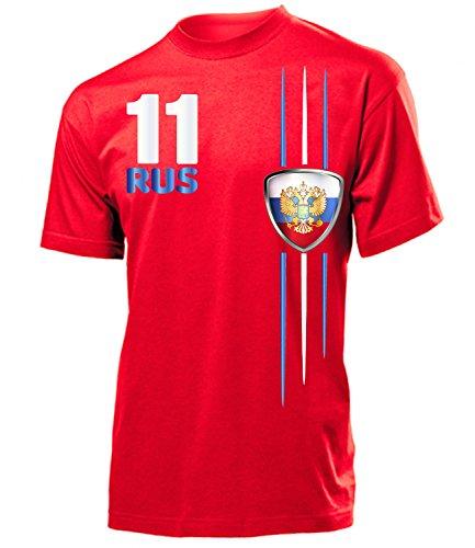 Golebros Russland Fanshirt Streifen 4312 Herren T-Shirt (H-R) Gr. L