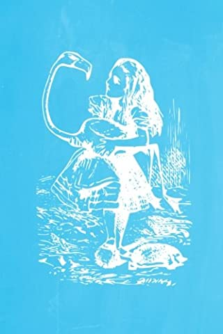 Alice in Wonderland Pastel Chalkboard Journal - Alice and The Flamingo (Light Blue): 100 page 6