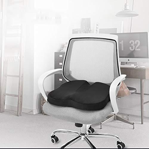 Rttz cuscino cuscino per il trattamento delle emorroidi ufficio cuscino per le donne incinte cuscino postoperatorio cuscino materassino per la salute del cotone (due colori) (colore : nero)