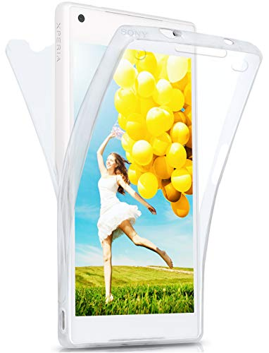 moex® Beidseitige Silikonhülle [Vorder + Rückseite] passend für Sony Xperia Z5 Compact | 360 Grad Cover mit Komplett-Schutz - durchsichtig, Transparent
