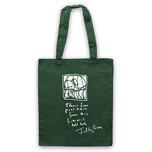 Inspiriert durch Brass Eye Karla The Elephant Jilly Cooper Letter Inoffiziell Umhangetaschen Dunkelgrun