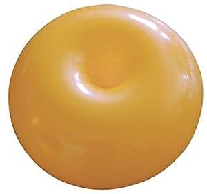 Incidence 85206 Pouf rond gonflable Donuts Orange PVC Usage extérieur et intérieur