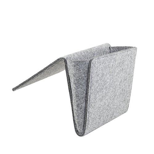 OUNONA Organizer Tasche Für Bett Sofa Filz (Grau) (Organizer Sofa Pocket)