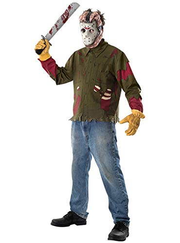 13 Der Kostüm Voorhees Freitag Jason - Generique - Jason-Kostüm aus Freitag der 13. für Herren Einheitsgröße