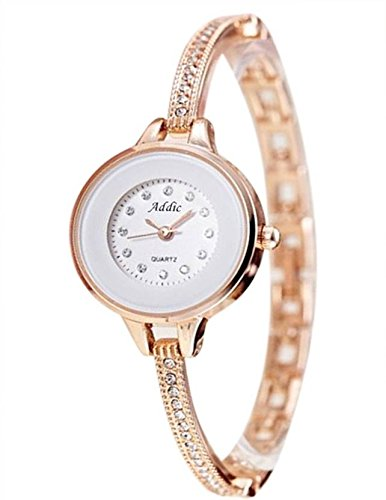 Addic Analogue White Dial Women's Watch-Addicww434