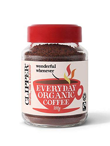 Clipper Fairtrade Rich Roast Organic Instant Coffee Granules 100 g (Pack of 6)