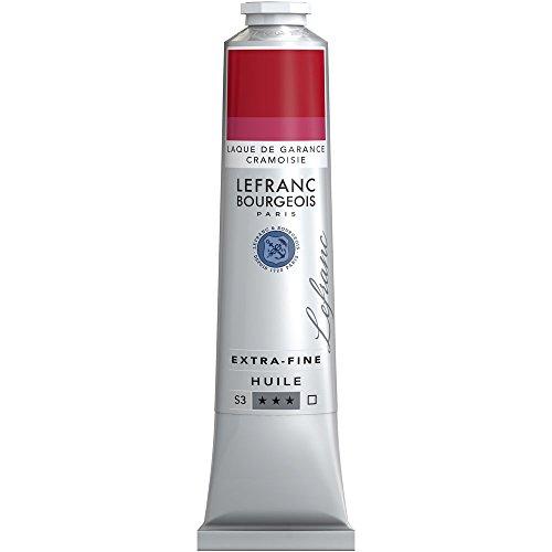 Lefranc & Bourgeois Lefranc Extra Fina Pintura al óleo-Tube, Artista pigmentos, Krapplack Karmesin, 200 ml
