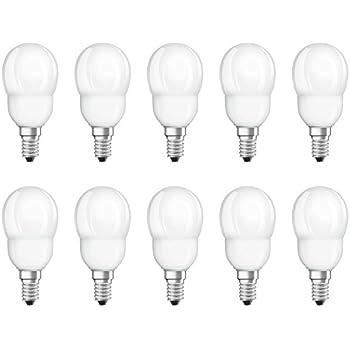 8 x Osram ESL Energiesparlampe Tropfen 6W = 25W E14 Kugel extra warmweiß 2500K