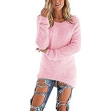 Damen Frauen Herbst Winter Spring Sweater Oberteile Langarm Strickwaren Warm Strickpullover Tops Lange Ärmel Jumper Pullover Bluse Jumper