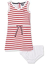Tommy Hilfiger Mädchen Kleid Ame Stripe Rayon Dress Slvls