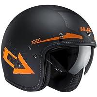 HJC FG 70s Tales MC de 7F Casco Jet, color negro de naranja mate, tamaño L (58–59)