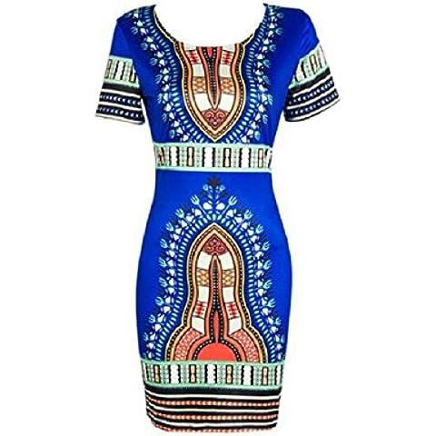 Culater mujeres del vestido tradicional de impresión de manga corta dashiki africana con el cuerpo