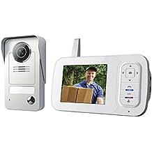 Smartwares VD38W Portier vidéo sans fil, 120 mètres de portée