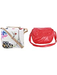 Felicita Combo High Quality Designer Cross Body College And Office Women And Girls Sling Bag (Set Of 2) (carbg...