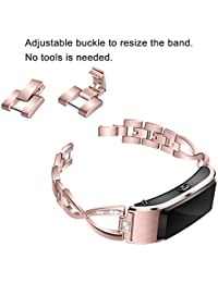 MChoice_Band Steel Baby Boy's Fshion Luxury Stainless Steel Wristband Replacement Watch Band Wrist Huawei B5 Smart Watch Size: for Huawei B5 Smart Watch Pink