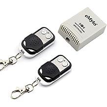 eMylo transmisor AC 220V-230V-240V, 1000W, 10 A, 2 canales, con control remoto, autobloqueo, Negro