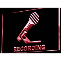 ADV PRO i799-r Recording Microphone On Air NEW Neon Light Sign