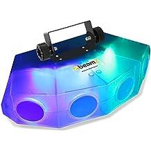 beamZ mini Moonflower Efecto de luz con 4 lentes • LED 132 x RGBA LEDs • Activación por sonido • Sensibilidad ajustable • Mando a distancia • Modo automático • Velocidad ajustable • Iluminación eventos y escenarios