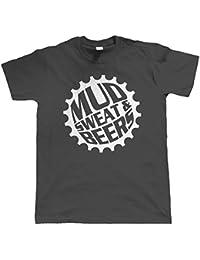 Vecteur bombe, Boue Transpiration et Bières, Vélo Vtt T-Shirt (S à 5XL)