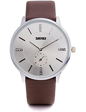 Baciami SKMEI Quarz Armbanduhr elegant Quarzuhr Uhr Glitzersteine modisch Zeitloses Design klassisch Metall silber...