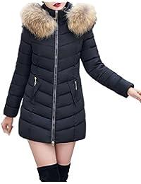 866f84e5749a Cinnamou Fashion Femme Slim Veste à Capuche Manteau Parka Chaud épaissi  Mi-Longue Doudoune