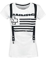 Rammstein Suspender Girl-Shirt weiß