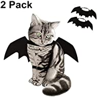 obqo 2 Pack Halloween Pet Bat Wings Cat Dog Bat Costume Pet Costume Halloween Accessory for Puppy Dog and Cat