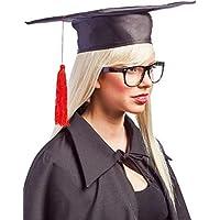 Adulti Donna Uomo Tocco Laurea Cappello Rosso Nappa Scuola Superiore  College Università Costume Vestito Accessorio Cappello 7cc7d3e44122