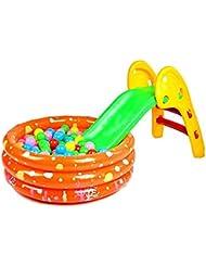 Calli bebé plegable pequeño tobogán resbaladizo arriba y abajo como doblar juguete tobogán sola diapositiva
