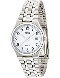 Lotus hombre reloj de pulsera analógico cuarzo acero inoxidable 15031/1