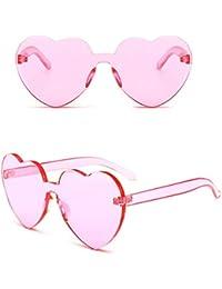 LLLM Gafas de sol Amor en Forma de corazón Gafas de Sol Mujeres Sin Marco  Marco e3289ac487c9