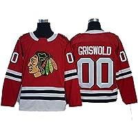 XIAOYU Griswold # 00 Chicago Blackhawks Hockey NHL Jersey Jerseys de los Hombres Camisetas Camiseta de Las señoras Ropa,A,XXXL
