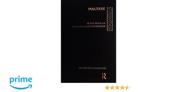 Maltese (Descriptive Grammars)