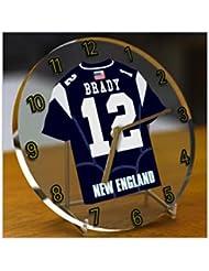 TOM BRADY NEW ENGLAND PATRIOTS NFL HORLOGE DE TABLE FOOTBALL AMERICAIN - EDITION LIMITEE LES LEGENDES DU SPORT